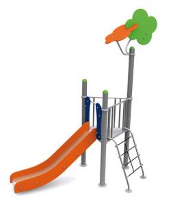 Spielturm METALLIC I mit Rutsc