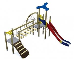Spielturm KLASSIK IV mit Br�ck
