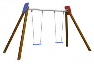 Doppelschaukel ROT-BLAU verzin