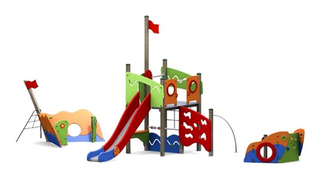 kletterturm drache mit rutsche kletternetz und. Black Bedroom Furniture Sets. Home Design Ideas